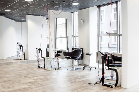 Hairdresser salon interior